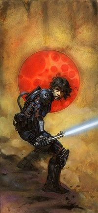 Luke in armor from the Legacy series.