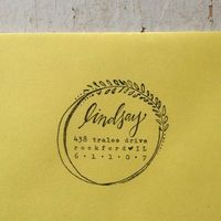 Custom Address Stamp // {wreath}