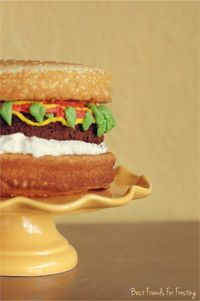 How to Make Easy Hamburger Cake & Cupcakes by Melissa Johnson of