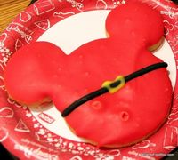 Santa Mickey Cookie at Magic Kingdom's Main St Bakery