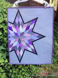 Love this patchwork star. The quilting is perfect, as well.