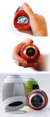 "Tamaggo ""360 imager"" (basically a digital camera with a wraparound lens)"