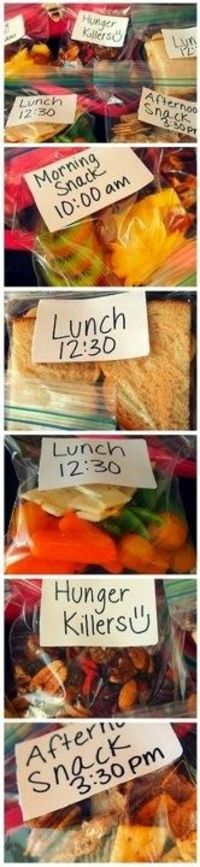 Nice visual reminder for portion control & packing ideas!