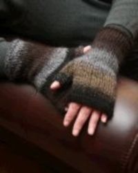 Knitting at KNoon Designs-Fingerless Mittens Pattern