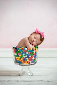 baby in candy dish