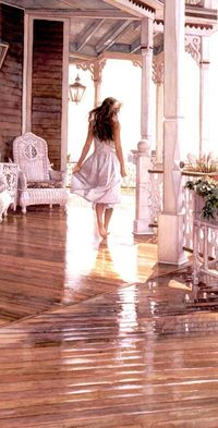 "Steve Hanks - ""Sunshine After the Rain"" Watercolour"