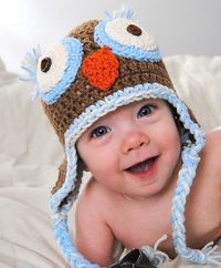 Cute owl hat.