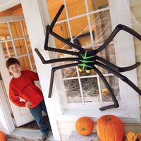 Spoky Spider made from milk jug and insulation tubes