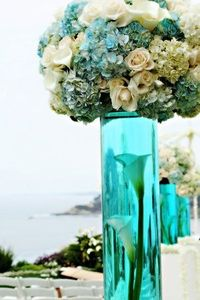 Reception Idea - dye the water color!