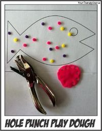 Hole Punch Play Dough... why have I never thought of this??
