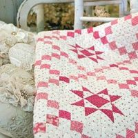 McCall's website with PDF directions for bedsize quilt of my design, Teaberry Stars