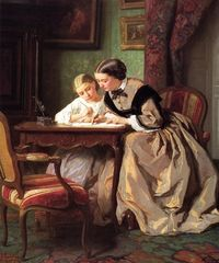 The Lesson Jules Trayer - 1861