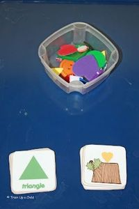 Shape sorting with tactile fun and more trays and crafts for preschool learning.