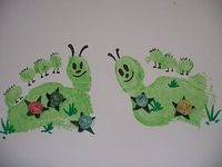 Footprint caterpillar card