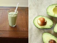 Avocado Smoothie...cut me some slack, I am pregnant and this looks SO GOOD!