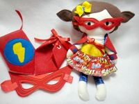 Super Hero Doll and Dress Up Set by lilliannamarie on Etsy,