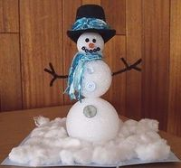 Styrofoam Ball Snowman - cute!!