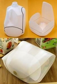 milk jug to plastic box