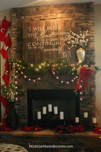 sign over mantel
