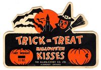 vintage halloween trick or treat halloween kisses
