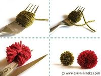 Genius way to make smaller pompoms