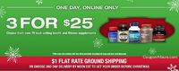 """GNC Holiday Offer '�'�"""" 3 For $25!"""