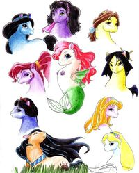 Disney's Ponys - (Jasmin, Esmeralda, Belle, Mulan, SleepingBeauty, Alice, Pocahontas, Snow White, Megara, Ariel) Joce loved this