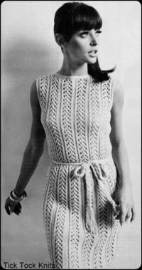 No204 PDF Vintage Knitting Pattern For Women by TickTockKnits, $3.50