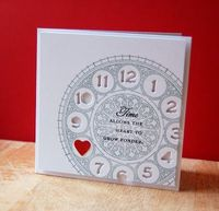 Missing You Clock Card by Cristina Kowalczyk for Papertrey Ink (January 2013)
