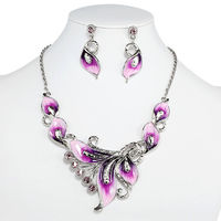Polished silver plating, sleek enamel and quality rhinestones bring opulent flash and sparkle in this Calla Lily Necklace Earrings Set for her. Secured by a lobster clasp with an extender, the Silver Calla Lily Necklace Earrings Set Enamel Rhinestones is ...