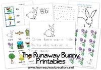The Runaway Bunny Book Unit {BFIAR} and free printables from Homeschool Creations