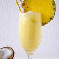 Pineapple coconut smoothie - Click image to find more Food & Drink Pinterest pins