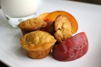 peach & butternut squash muffins | in sock monkey slippers