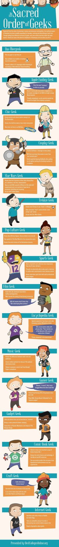 Infographic: The Many Types of Geeks