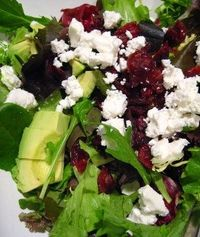 Cranberry, feta and avocado salad