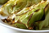 Oven Roasted Cabbage with Olive Oil and Lemon