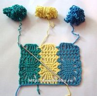 Openwork crochet patterns in color