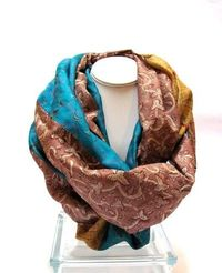 Silk sari scarf from Patchtique