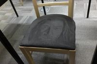 Someone drew Gandalf on a suede seat cushion. No big deal.