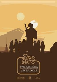 Artist Jozef Kyselica has created this great Disney/Star Wars mashup for a fake Star Wars movie called �€œPrincess Leia and the Seven Jawas�€.