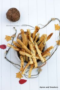 Cheese Straws with Parmigiano Reggiano, Sesame Seeds & Fleur de Sel from