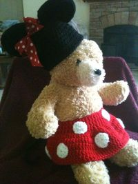 Crochet Mini Mouse outfit or photo prop by BackPocketBootie. $35.00, via Etsy.