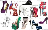 lovely shoe sketches