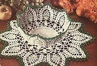 Bowl and Doily Crochet Pattern free pattern