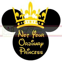 Not Your Ordinary Princess Minnie Mouse DIY Iron on Decal. $7.00, via Etsy.
