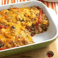 This south-of-the-border casserole combines refrigerated pizza dough, beef mixture, and taco-cheese blend into a sensational one-dish meal.