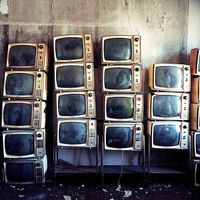 naturae: Stacked Old Televisions (by Lindsay Blair Brown)