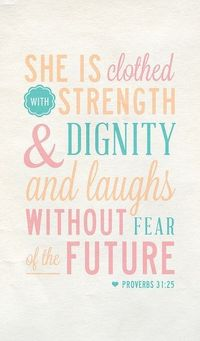 || proverbs 31:25 :: via a place for art
