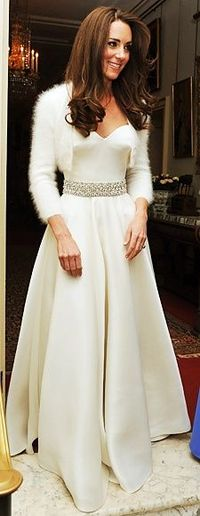 Kate Middleton: Wedding, evening attire
