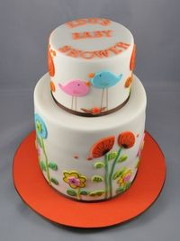 Different kind of baby shower cake.
